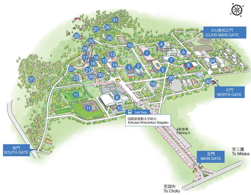 Facilities And Campus Map Icu International Christian University