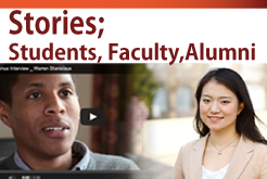 Stories; Students, Faculty, Alumni