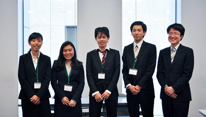 From  Left: Ms. Yamazaki,  Ms. Nakakita, Mr. Narushima, Mr. Arakane and Assistant Professor Matsuda.
