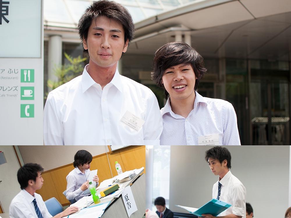 写真上:八木芳紘さん(左)、鳴島歳紀さん
